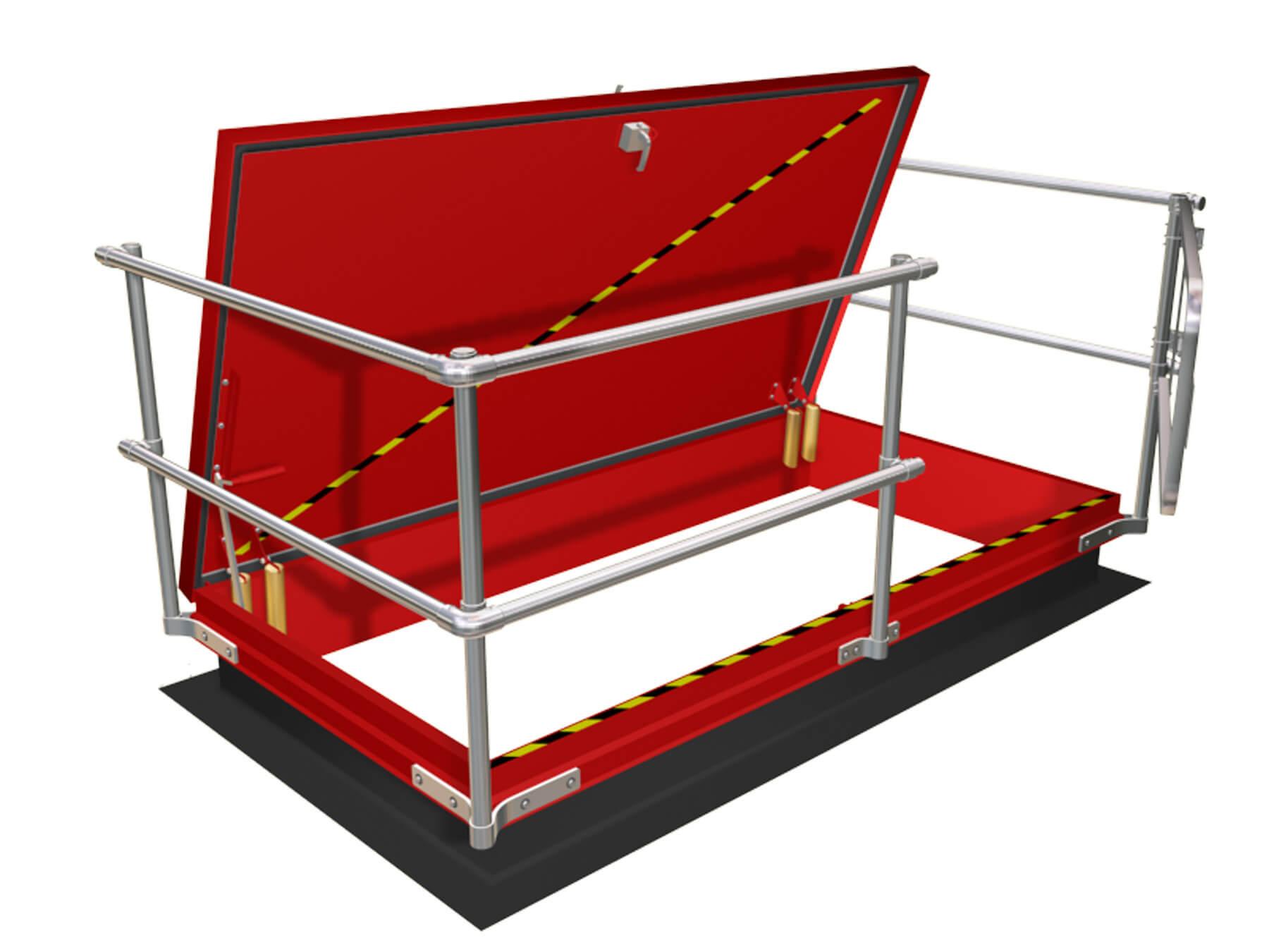 Roof Edge Railings | Rooftop Hatch Railings | Fall